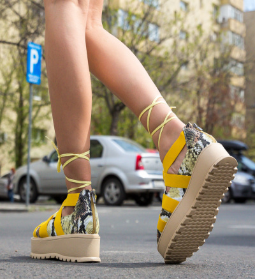 Pantofi Casual Sesane Galbeni