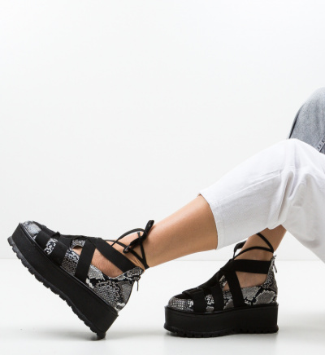 Pantofi Casual Sesane Negri 2