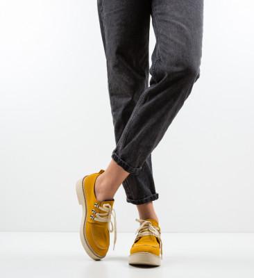 Pantofi Casual Squban Galbeni