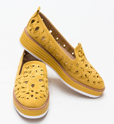 Pantofi Casual Volte Galbeni