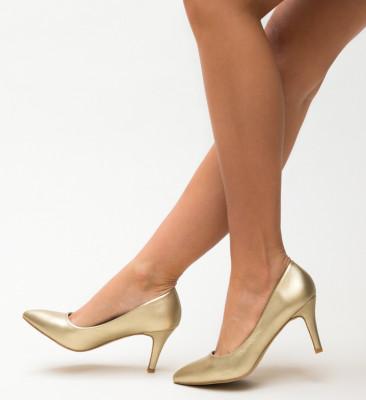 Pantofi Cheloo Aurii