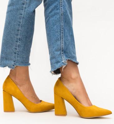 Pantofi Dorsy Galbeni