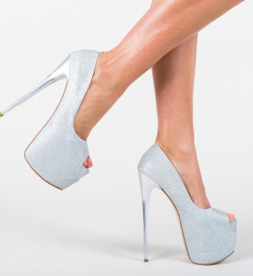 Pantofi Munteania Argintii