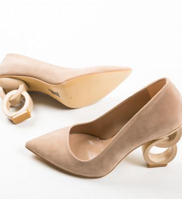 Pantofi Simoni Bej 3