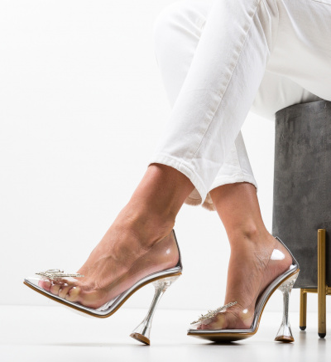 Pantofi Steliz Argintii