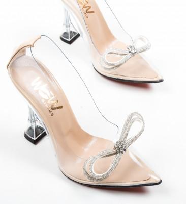 Pantofi Tacop Nude