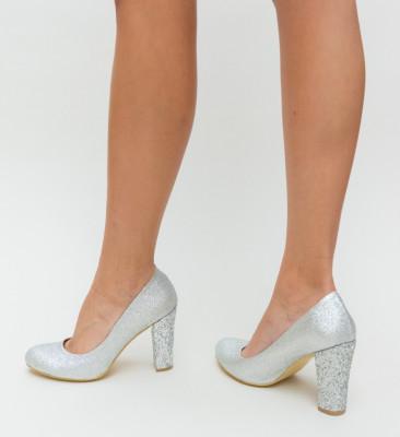 Pantofi Videla Argintii