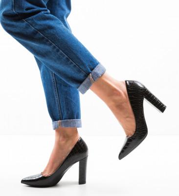 Pantofi Warn Negri