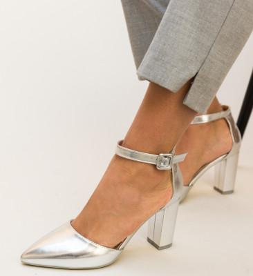 Pantofi Zavala Argintii