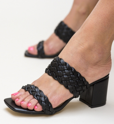 Sandale Pesto Negre