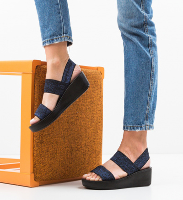 Sandale Sclipio Bleumarin 2