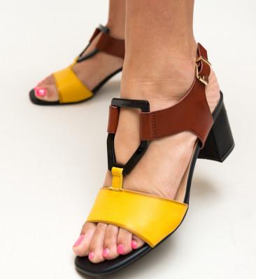 Sandale Scrund Galbene