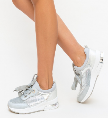 Pantofi Sport Aparna Argintii