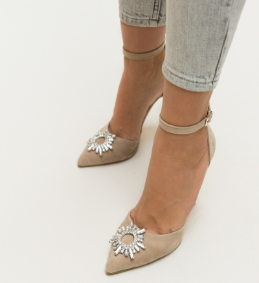Pantofi Ross Bej
