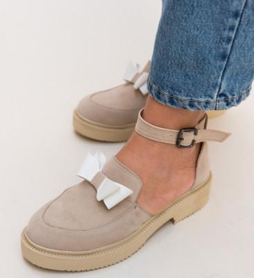 Pantofi Casual Pretty Bej