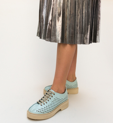 Pantofi Casual Jalba Turcoaz