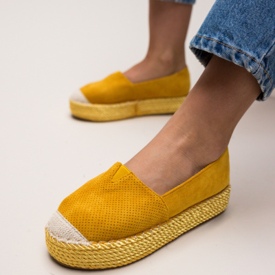 Espadrile Hexagon Galbene