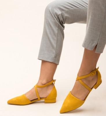 Pantofi Amisha Galbeni