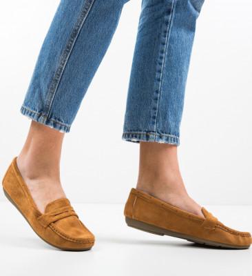 Pantofi Casual Amiq Camel