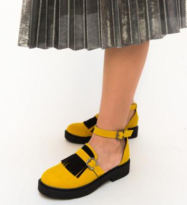 Pantofi Casual Athos Galbeni