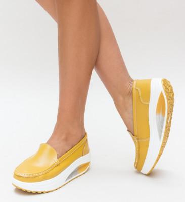 Pantofi Casual Drigo Galbeni