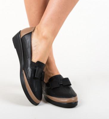 Pantofi Casual Kimono Negre