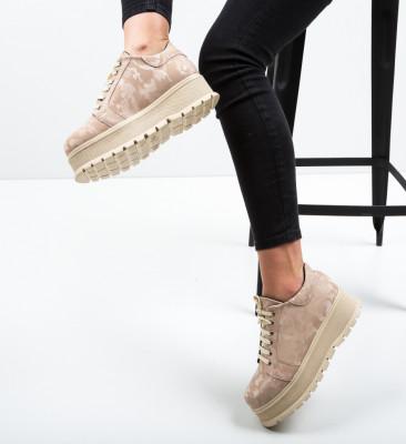 Pantofi Casual Kisio Bej 2