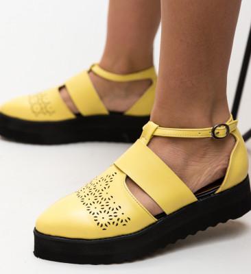Pantofi Casual Lazer Galbeni 2