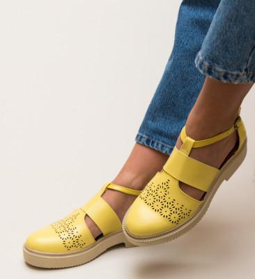 Pantofi Casual Potic Galbeni