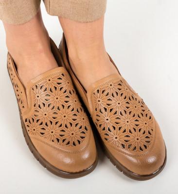 Pantofi Casual Resca Camel