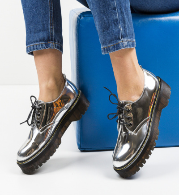Pantofi Casual Riley Argintii