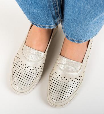 Pantofi Casual Salop Bej 2