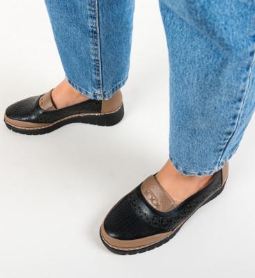 Pantofi Casual Salop Negri