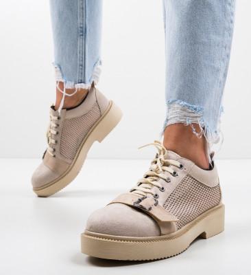 Pantofi Casual Tourqoise Bej