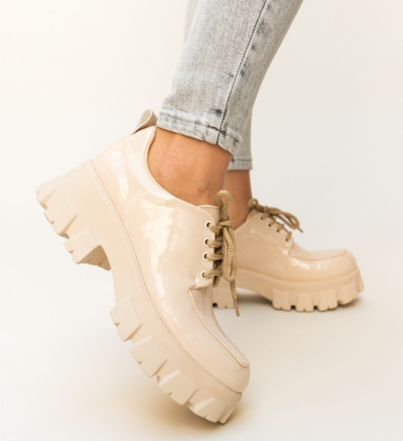 Pantofi Casual Trako Nude