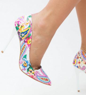 Pantofi Flom Albi
