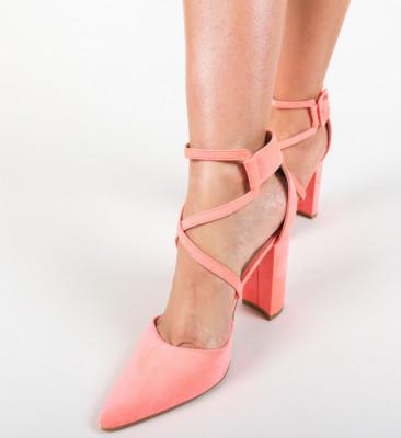 Pantofi Garet Corai Neon
