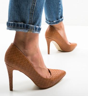 Pantofi Inez Camel