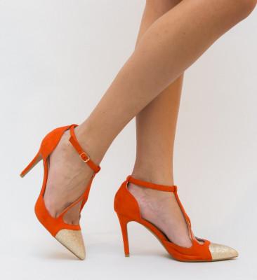 Pantofi Luxuris Portocalii