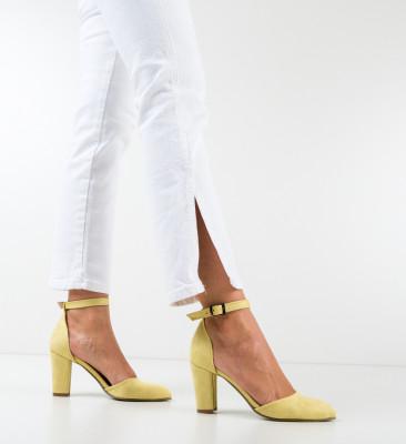 Pantofi Narcissa Galbeni