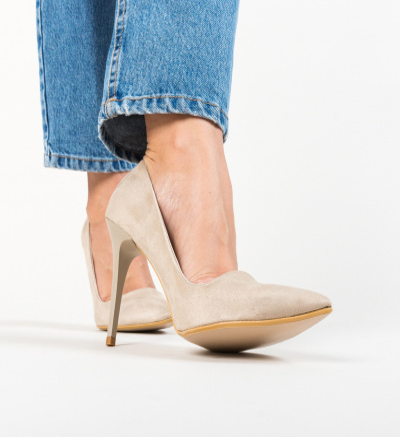 Pantofi Oligof Bej