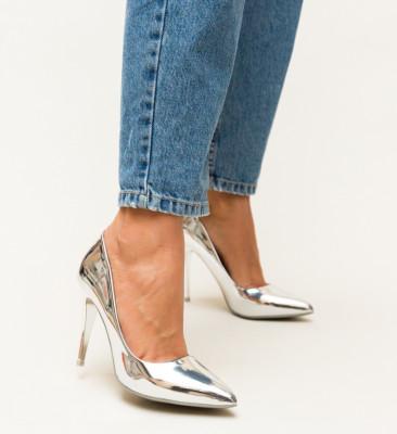 Pantofi Polon Argintii