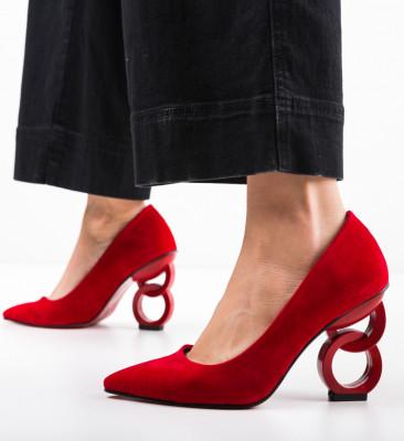 Pantofi Simoni Rosii 2