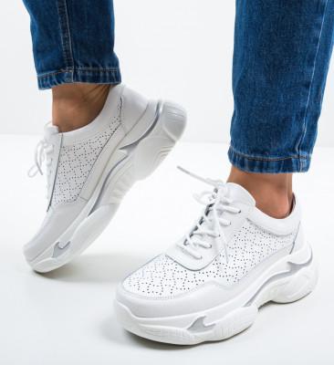 Pantofi Sport Dumini Albi