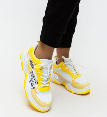 Pantofi Sport Ementin Galbeni
