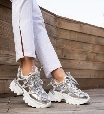 Pantofi Sport Sboca Argintii
