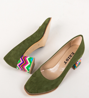 Pantofi Vardola Verzi