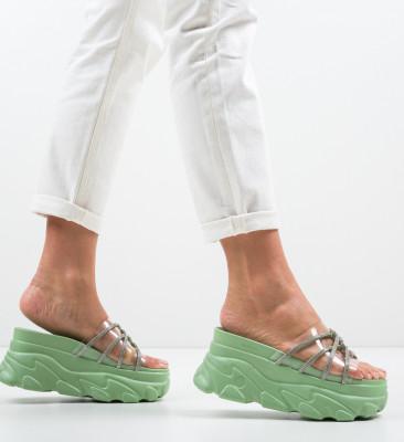 Papuci Crystal Verzi