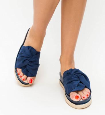 Papuci Uroma Bleumarin