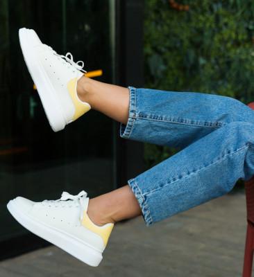 Pantofi Sport Vernon Albi-Galbeni